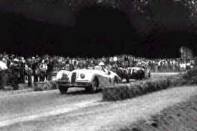 Phil Hill in the first Pebble Beach road race, 1950