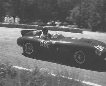 Jack McAfee in a Ferarri 857 S in 1956. Photo: Jim Sitz